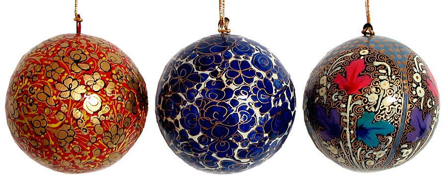 Collectable Bombay  Christmas Ornament Beautiful Bright Christmas colors Large