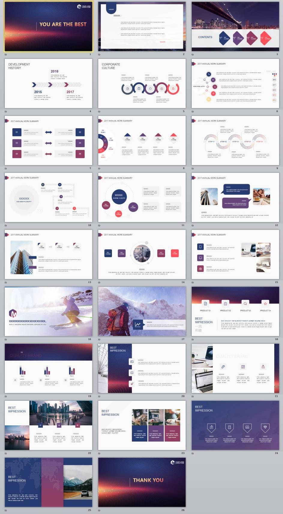 26 best business annual design powerpoint templates presentation