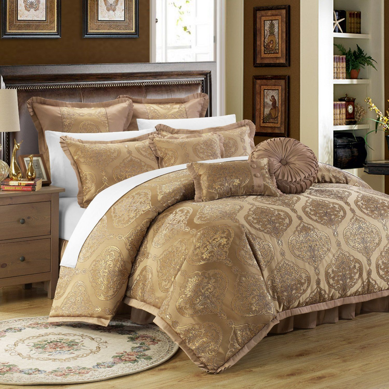 queen walmart piece burgundy perris set comforter com gold ip