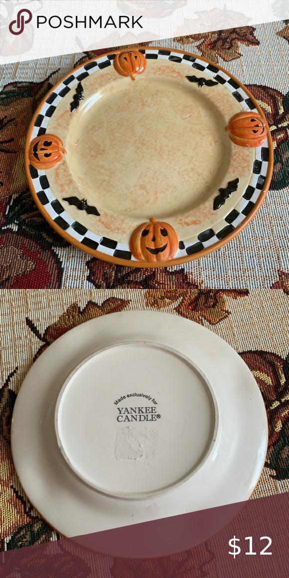 Yankee Candle Ceramic Halloween Plate Halloween Plates Yankee Candle Plates