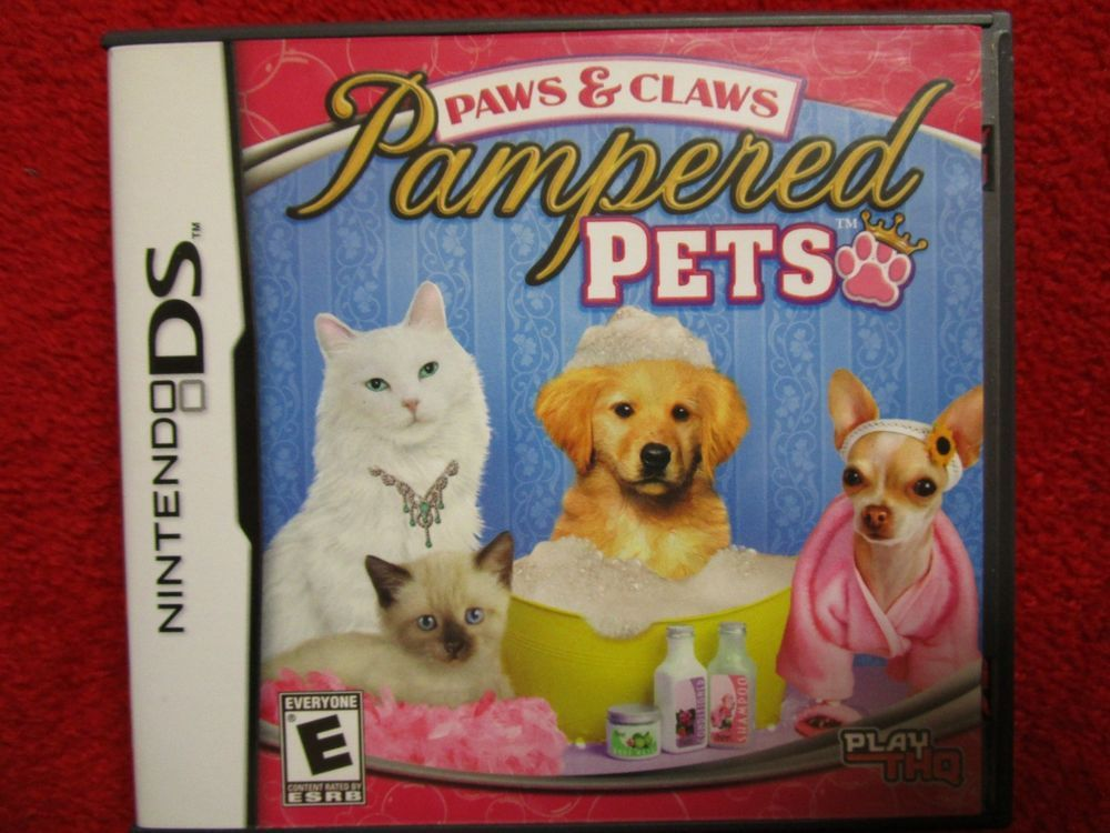 Paws & Claws Pampered Pets (Nintendo DS, 2009) Pamper