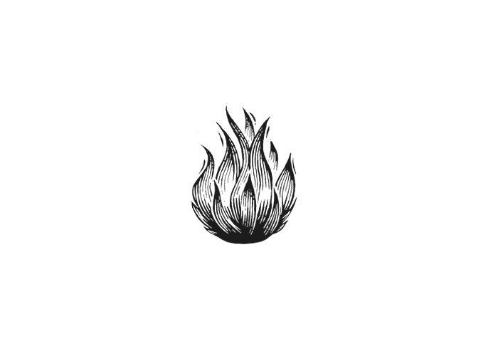 Fireball Woodcut