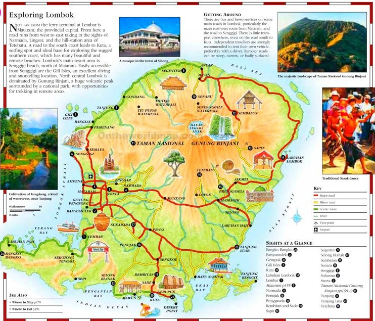 Lombok tourist map Maps Pinterest Tourist map Lombok and