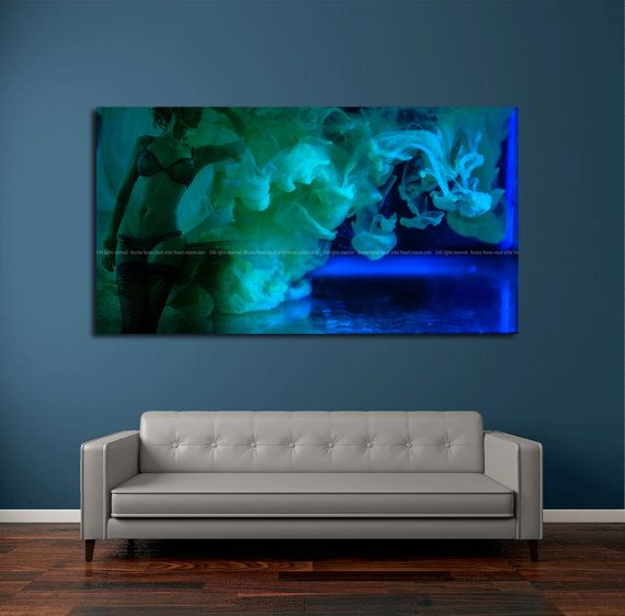 Green chalienger abstract artwork large abstract art abstract metal print contemporary art