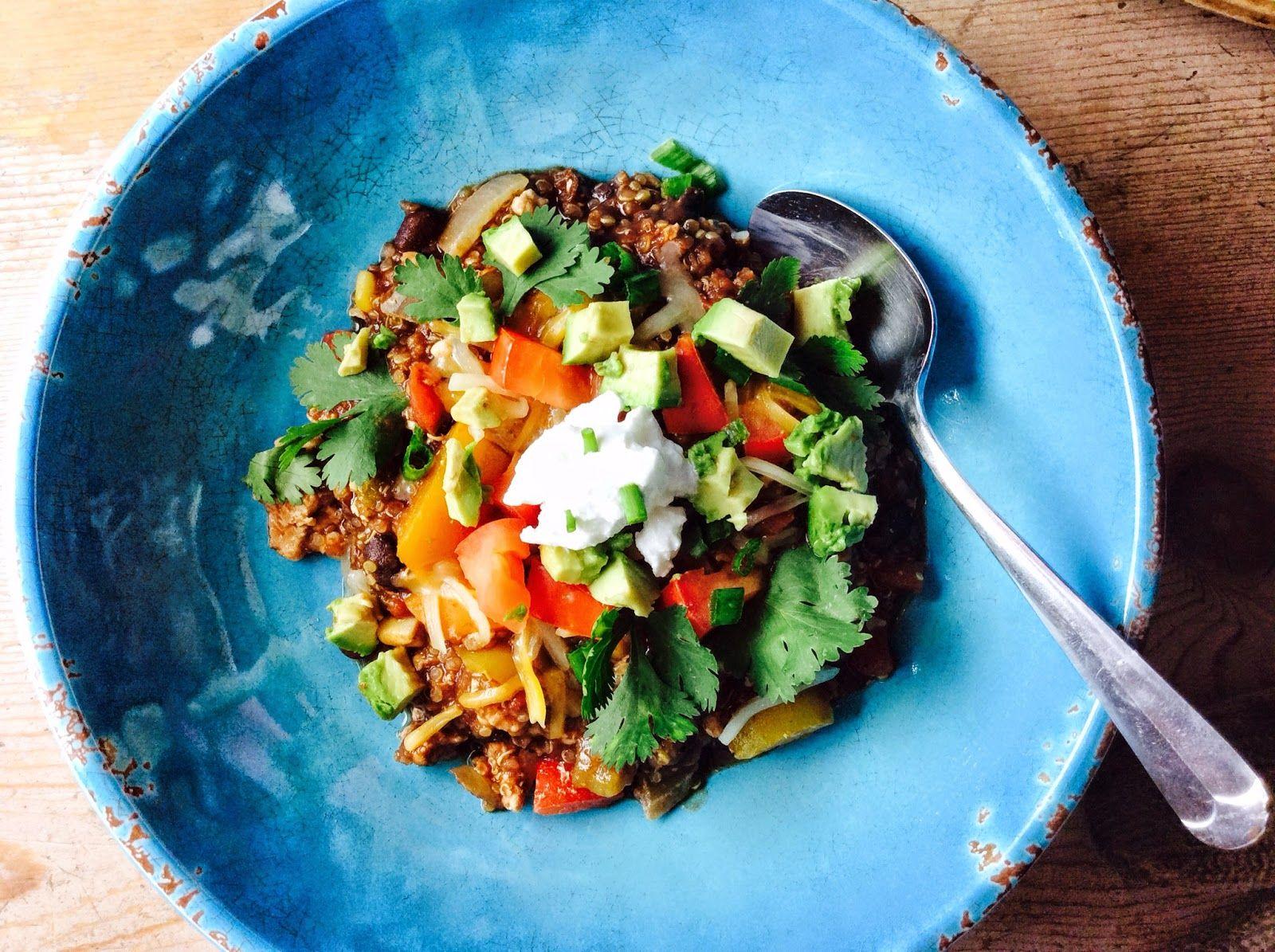 Food Fitness by Paige: Turkey Mole' Quinoa Chili