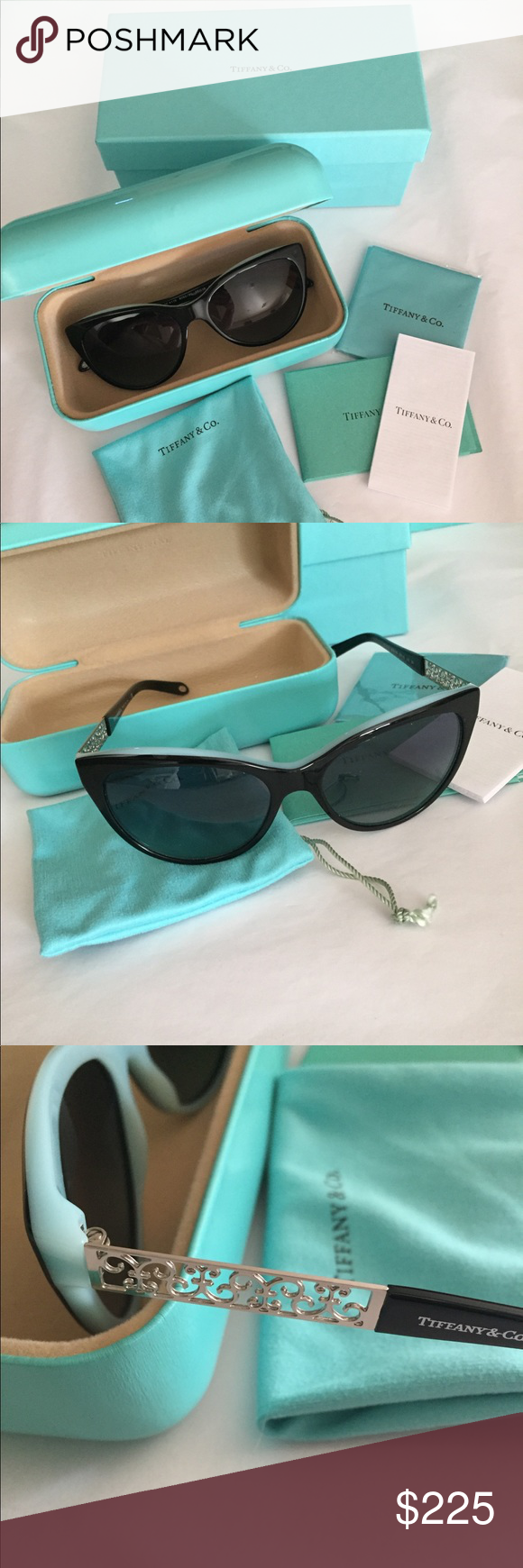 5df3271b57b Tiffany   Co. Enchant Cat Eye Sunglasses Authentic Tiffany   Co. Enchant  Cat Eye Sunglasses. These are in new condition and include everything  pictured.