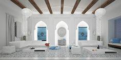 Salon d'intérieur blanc
