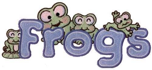 Cute Color Froggies Machine Embroidered Quilt Blocks