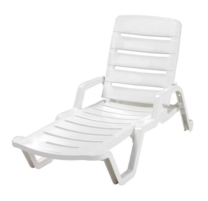 Adams 1 White Resin Chaise Lounge Ace Hardware Outdoor Chaise