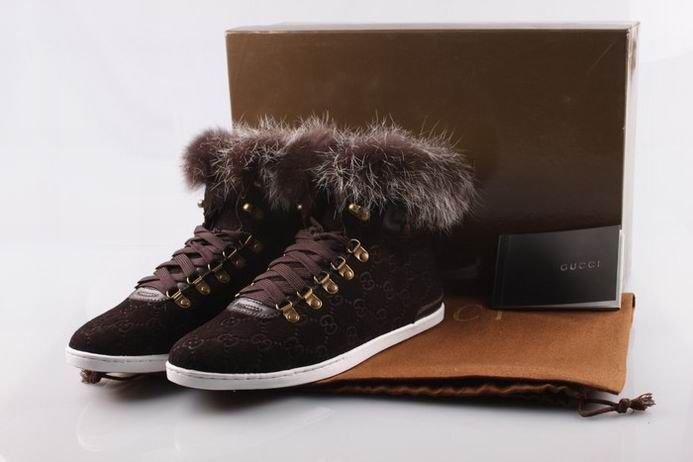 gucci high shoes brown online