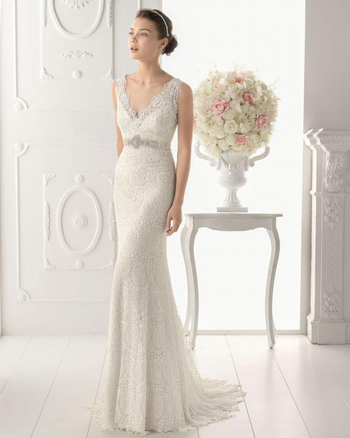 25 Timeless Wedding Gowns from Aire Barcelona, 2014 | OneWed ...