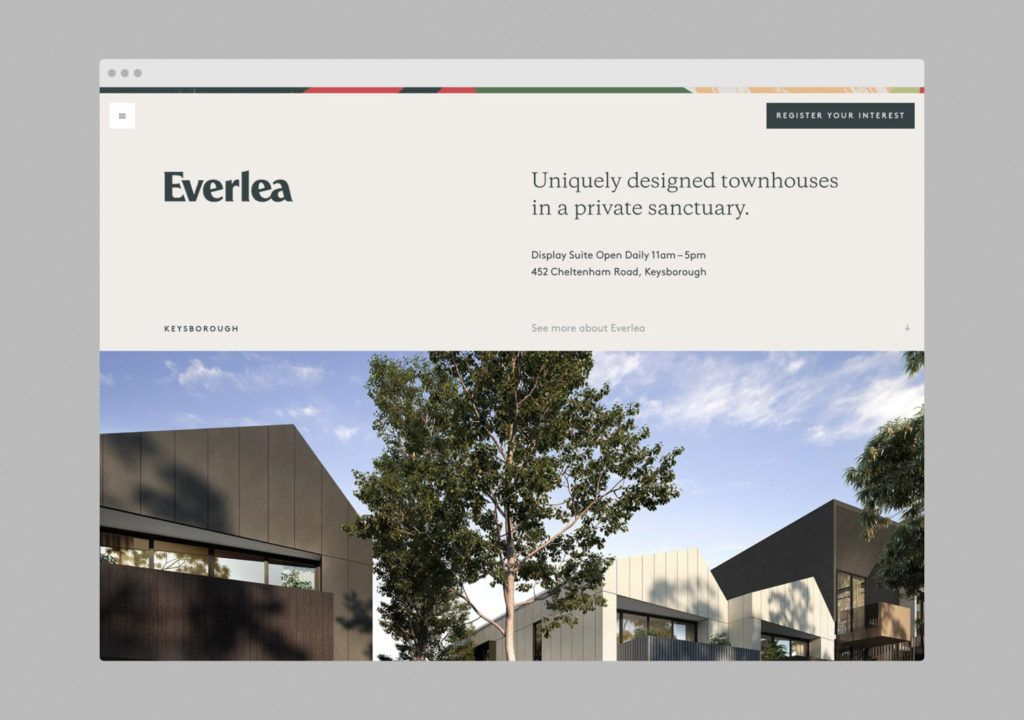 Everlea By Studio Brave With Images Property Branding Visual Identity System Property Design