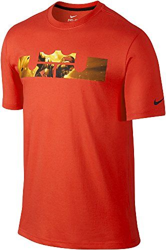 official photos ac813 c7358 NIKE Lebron James Men S Lbj King Logo Dri-Fit Cotton T-Shirt.  nike  cloth
