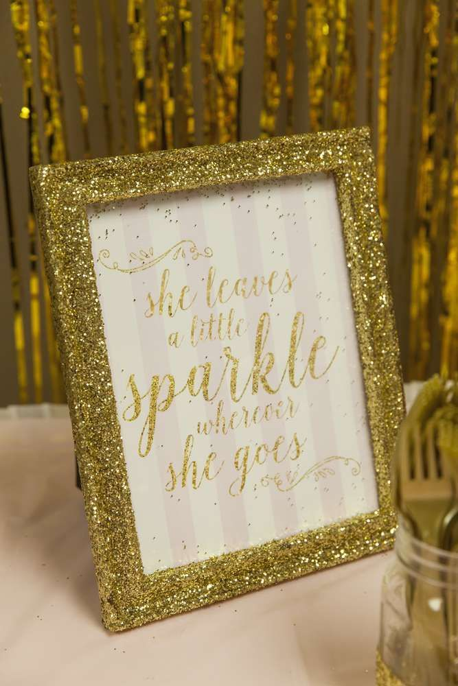 Pink Gold Princess Birthday Party Ideas