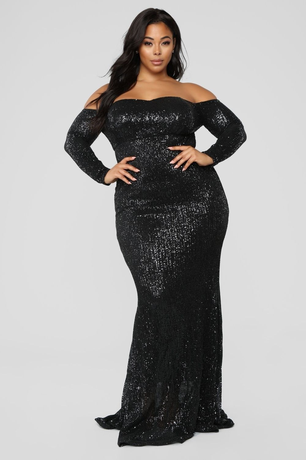 18d9000b6a1 Plus Size Got Class Sequin Dress - Black  79.99  fashion  ootd  outfit