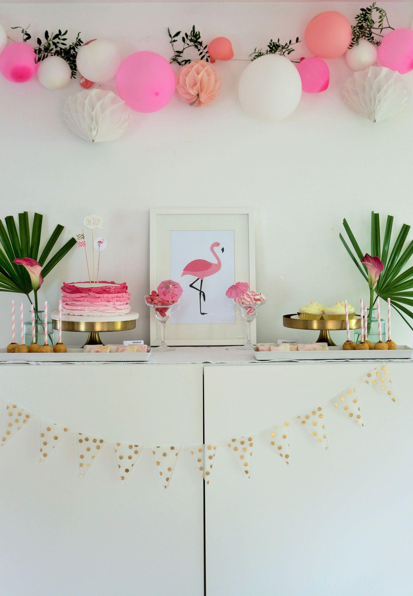 flamingo party diy deko ideen dalias geburtstag. Black Bedroom Furniture Sets. Home Design Ideas