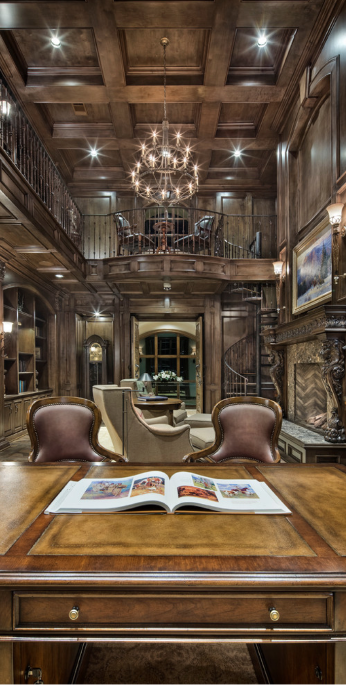 Old Study Room: Old World, Mediterranean, Italian, Spanish & Tuscan Homes