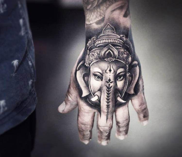 55b2dbfa6 Handphant Geneisha tattoo by Khail Tattooer   Best tattoos ...