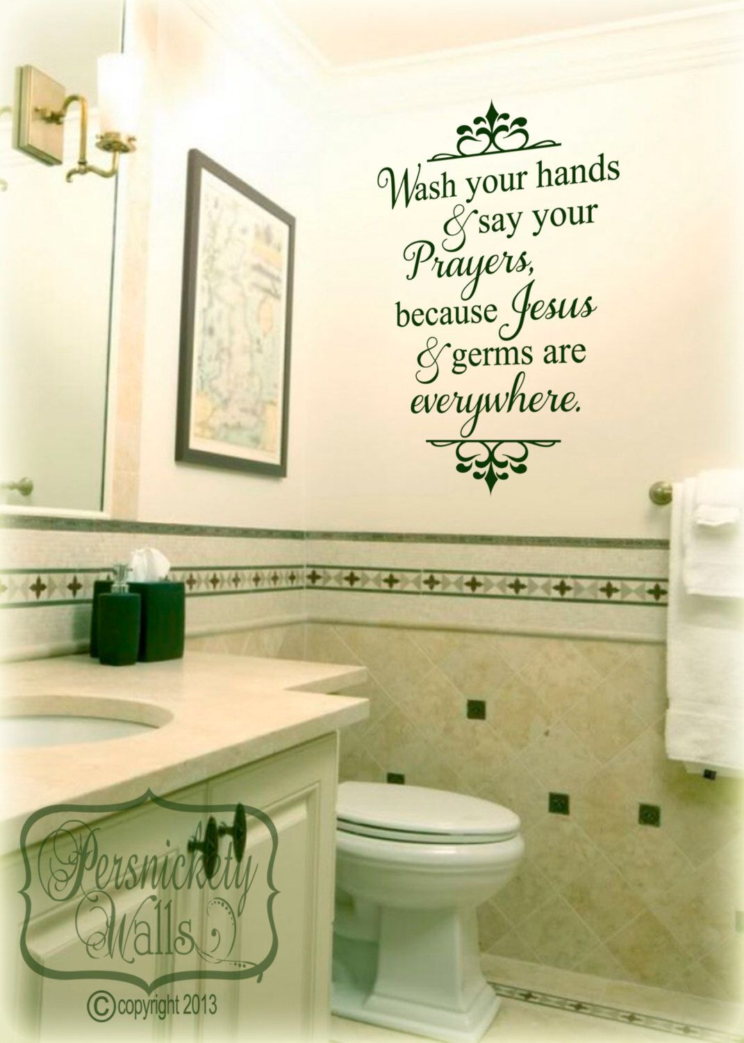 Wash your hands and say your prayers, because Jesus and germs are ...