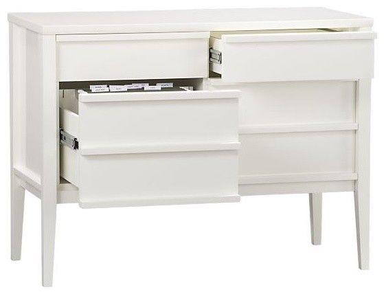 Spotlight White Credenza   Modern   Filing Cabinets And Carts   Crateu0026Barrel