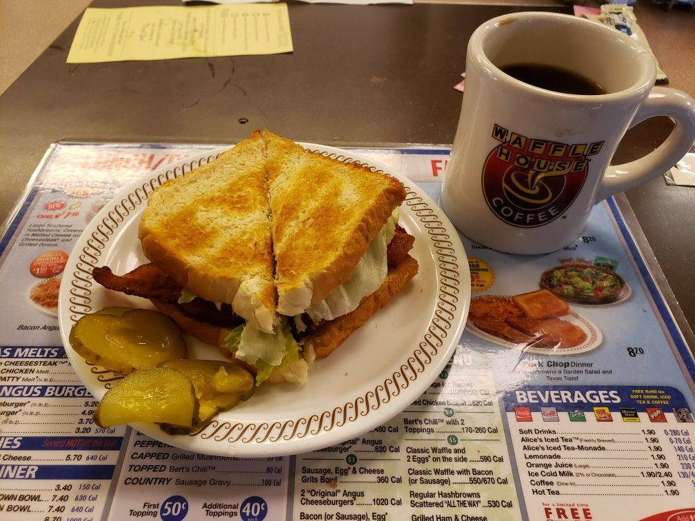 Blt With Coffee At Waffle House Sausage Gravy Food Country Sausage Gravy