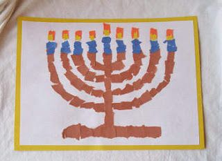 Great ideas for menorahs kids can make.