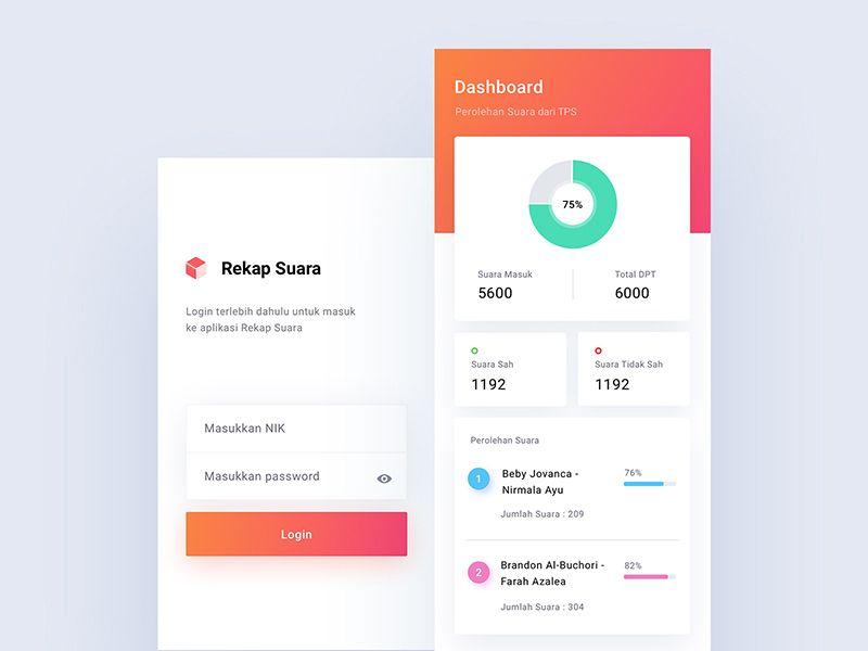 Rekap Suara App Prototype Web App Design App Prototype Design