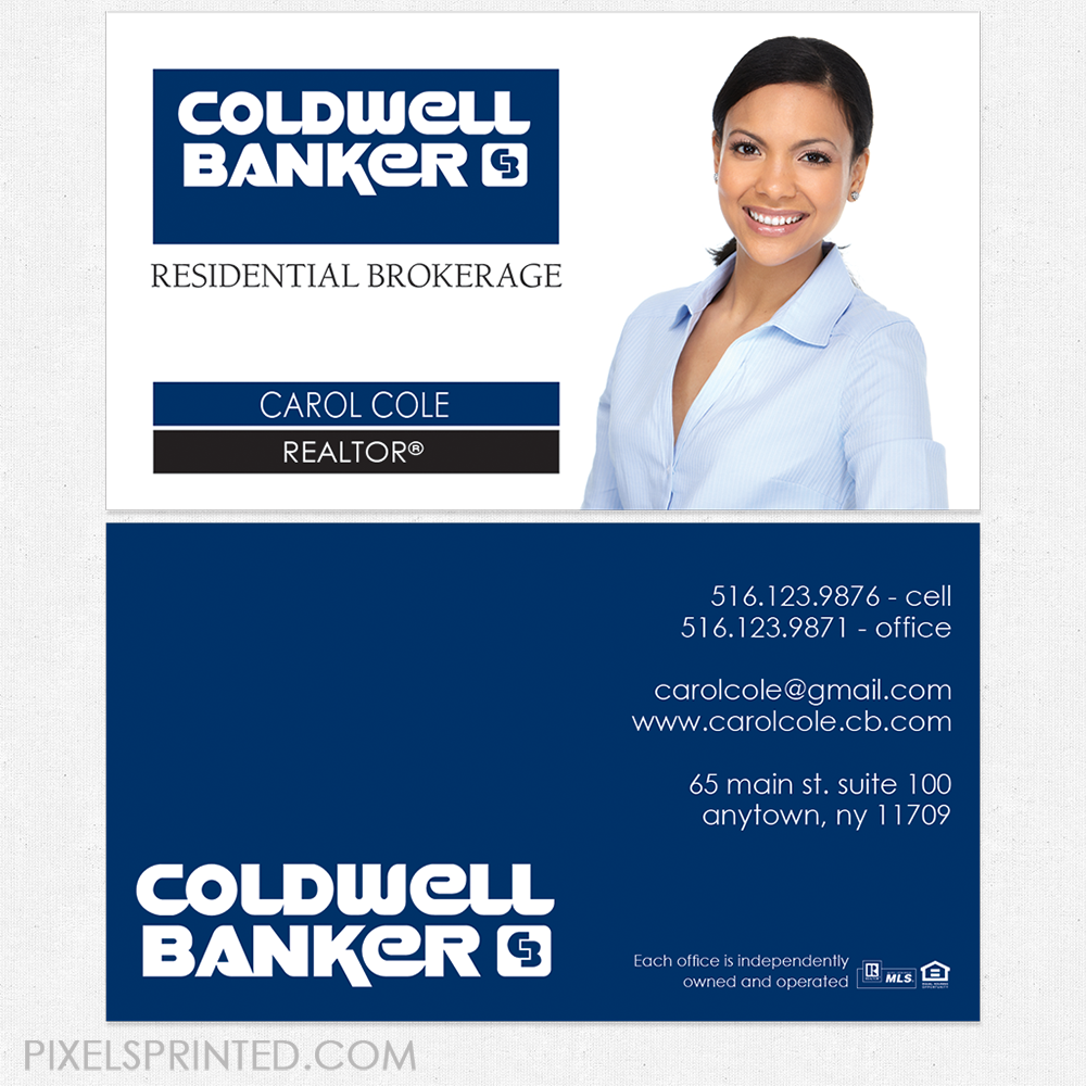 Coldwell Business Cards Coldwell Banker Business Cards Coldwell Banker Cards Coldwell Cards Realtor Business Cards Realty Business Cards Real Estate Busin