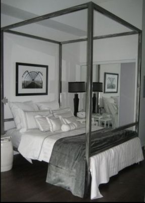 mesmerizing bed frame light brown grey bedroom walls | Stainless Steel Bed Frame- Queen - Clayton Gray Home ...