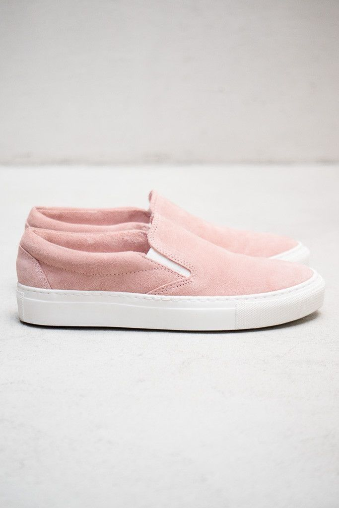 ec44b974ea cotton candy pink skater shoes P. Blush suede slip-on sneakers