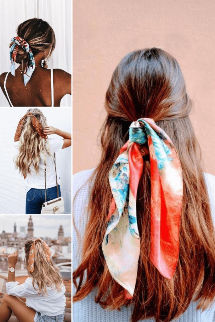 30 Stylish Shawls Hairstyles That Create A Luxurious Feel Silk Sh In 2020 Hair Styles Scarf Hairstyles Hair Scarf Styles