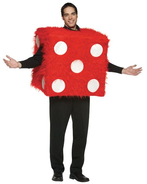 Adult Fuzzy Dice Fancy Dress Novelty Costume STD