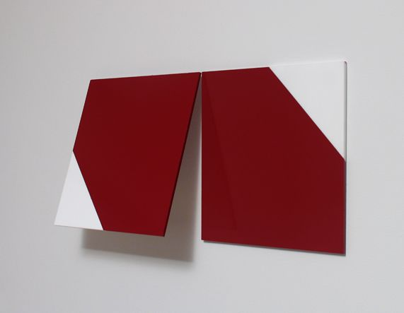 Steve Karlik Untitled Tension And Compression Series Wall Piece Enamel Paint On White Acrylic Sheets 12 X 2 Painting White Acrylic Sheet Illustration Art