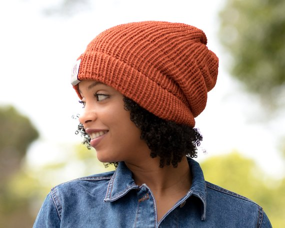 Image result for knit beanies for natural hair
