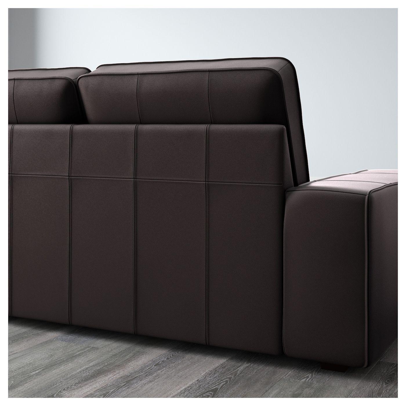 Ikea Kivik Sectional 5 Seat With Chaise Grann Bomstad Kunstleder Sofa Sofa Leder 3er Sofa