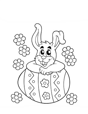 Ausmalbild Lehnt Auf Einem Osterei Easter Coloring Pages Bunny Coloring Pages Easter Colouring