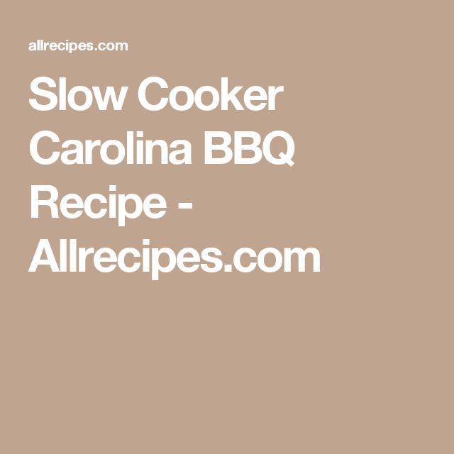 Slow Cooker Carolina BBQ Recipe - Allrecipes.com