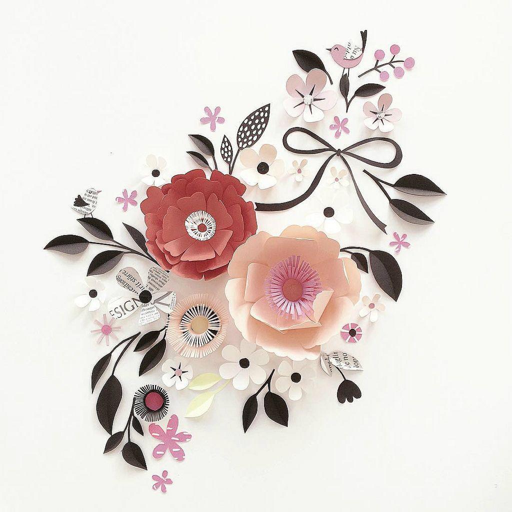 Sculpted Paper Flower Flourish Scandinavian Style Flourish And Flower