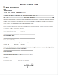 Medical Consent Form Download At HttpWwwTemplateinnCom