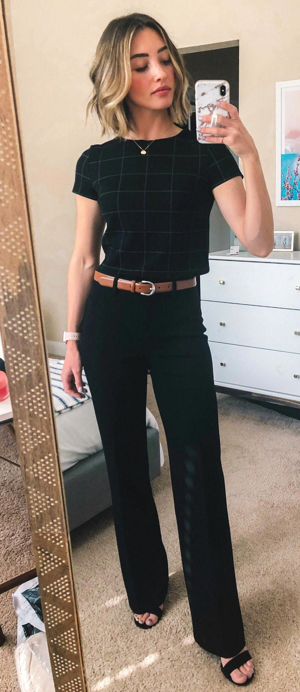 Work Outfits Office Workoutfits Professional Outfits Work Outfits Women Summer Work Outfits [ 2309 x 1000 Pixel ]