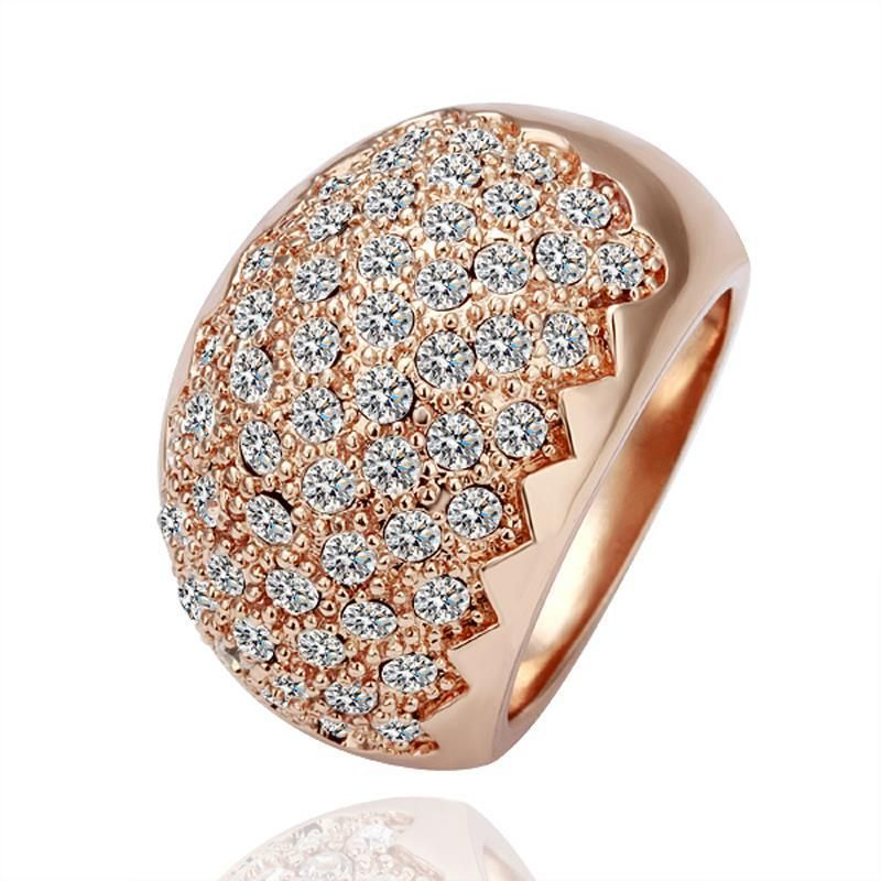 Rose Plated New York Jewels Cocktail Ring Size, Women's