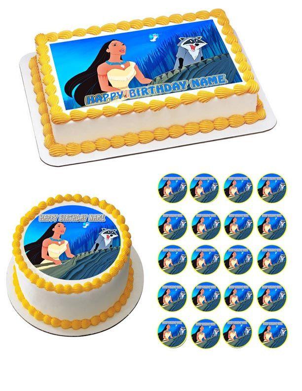 Pocahontas Birthday Party Pocahontas Printable Party Decor Pocahontas Cake Topper Pocahontas Cupcake Toppers Disney Princess Centerpiece