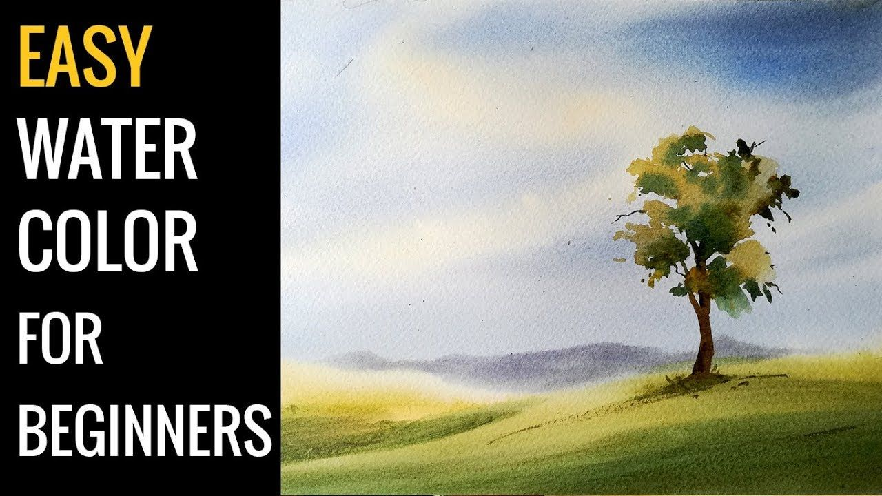 Watercolor Art Easy Landscape Tutorial For Beginners Youtube