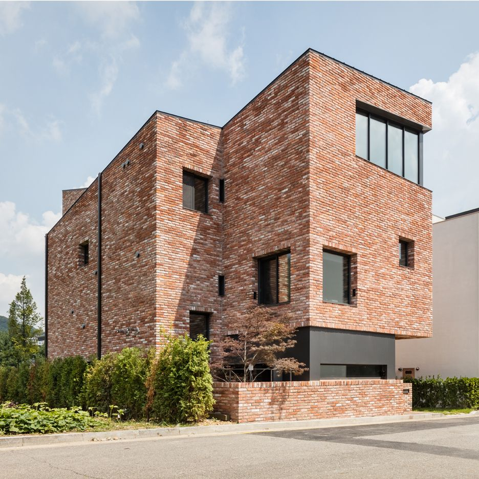 Best Kitchen Gallery: Although Only 10 Metres Tall This Red Brick House In South Korea By of Modern Brick Homes  on rachelxblog.com
