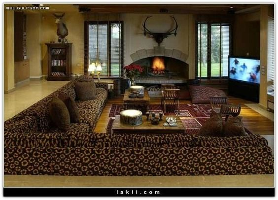 Traditional arabic style seating traditional for Arabic living room decoration