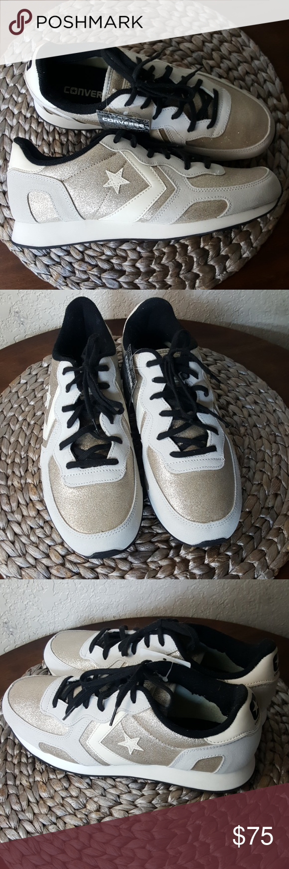 Converse Auckland Racer Ox sneakers Gold & beige Converse Auckland ...