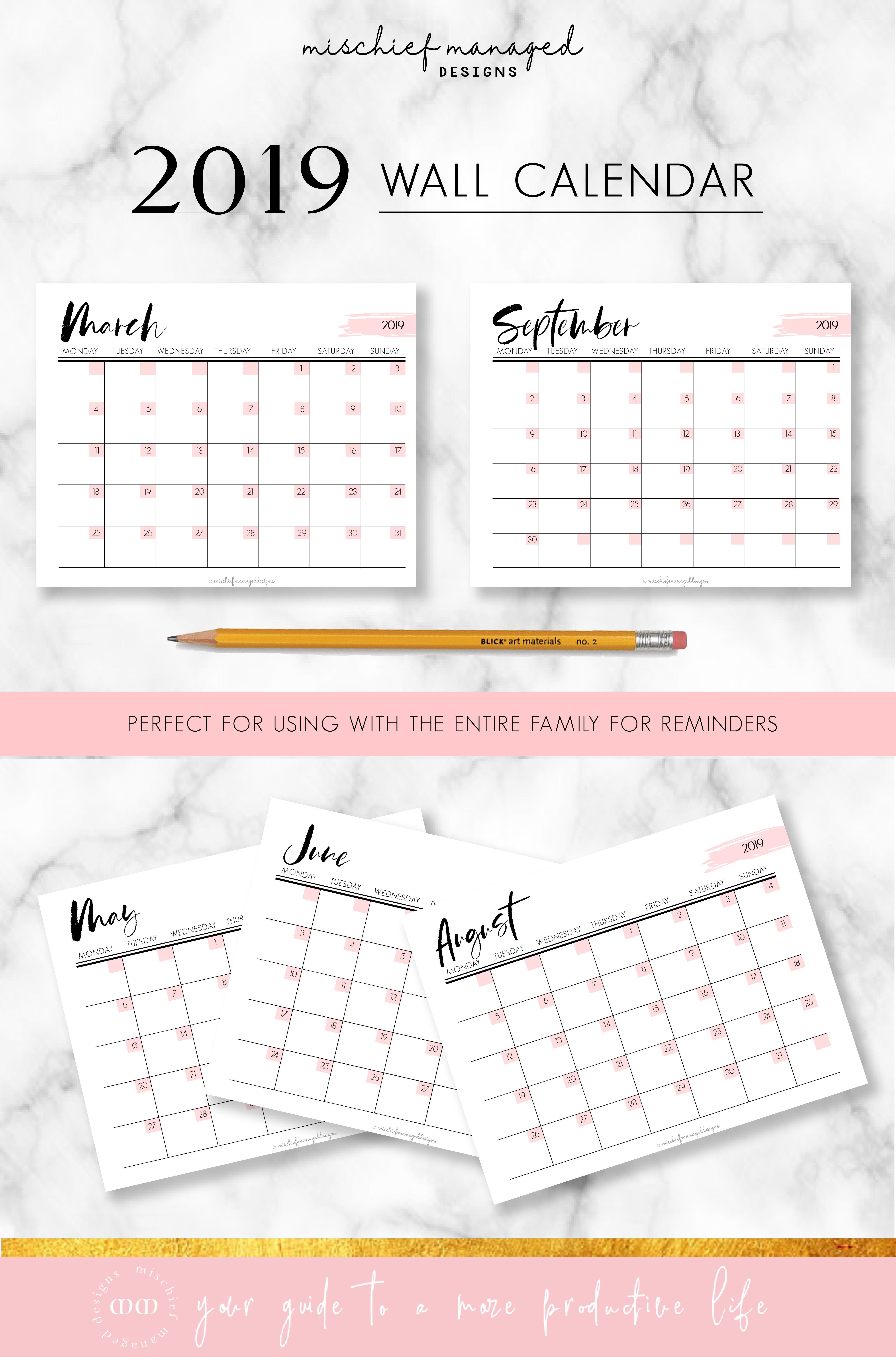 The Wall Calendar Planner Kit Is A Monthly Calendar