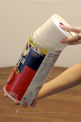 Rollo de papel higiénico encaja en bote de avena