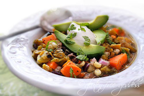 Slow cooker roasted Hatch chile stew with sweet potato ...