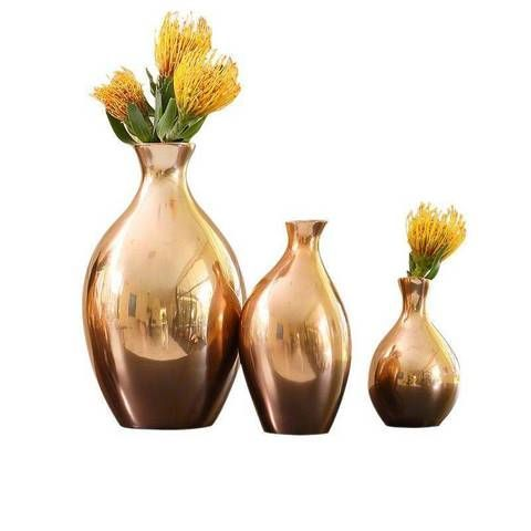 Affordable Home Decor Finds For Fall Brass Chrome Vase Trio Lost